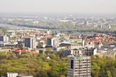 Warsaw seen from above - Poland — Stock Photo