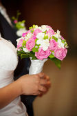 Bridal bouquet made of pink roses — Stock Photo