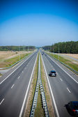 Two-lane highway seen from above — Stock Photo