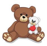 Dois ursos de pelúcia lindas — Foto Stock