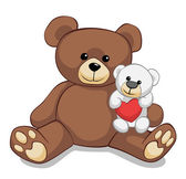 Two lovely teddy bears — Foto Stock