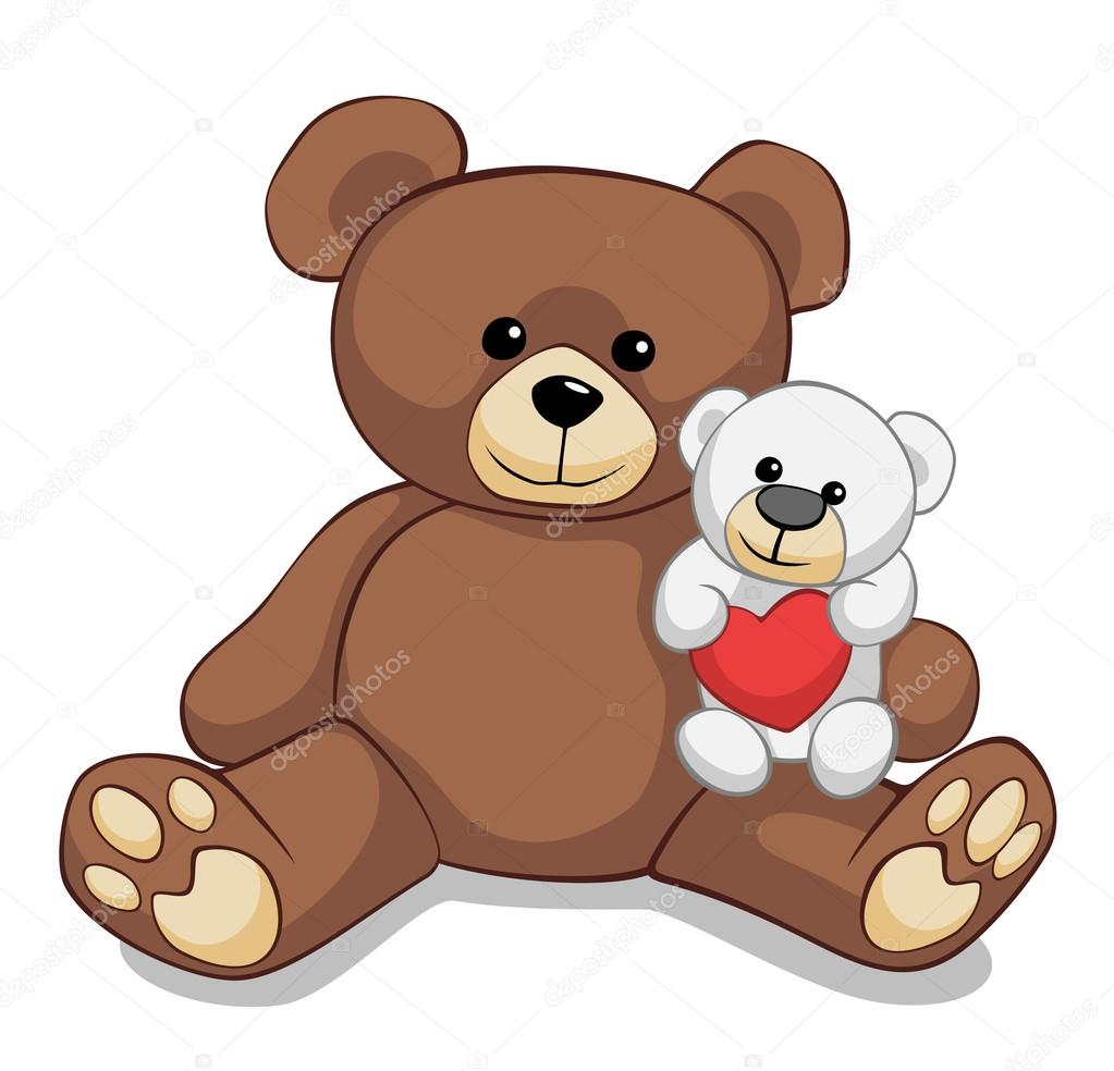 Two lovely teddy bears — Stock Photo #17468935