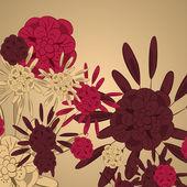 Fond fleur — Vecteur