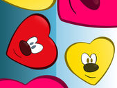 Pretty heart face — Stockvektor
