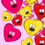 Pretty heart faces — Stock Vector #19575327