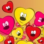 Pretty heart faces — Stock Vector #20117723