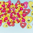 Pretty heart faces - Imagen vectorial