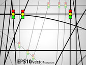 Traffic light background — Stock Vector
