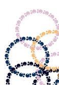 Cercle abstrait fond — Vecteur