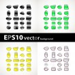 Set of color apps icons — Stock Vector