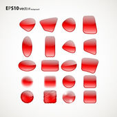 Set of red icons — Stock Vector