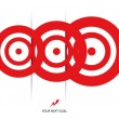 Set of red targets — Stock Vector #22564157