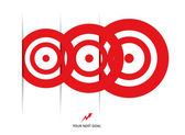 Set of red targets — Stock Vector
