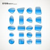Zestaw niebieskie ikony — Wektor stockowy