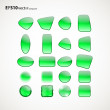 Royalty-Free Stock Vector Image: Green  figure