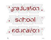 "Words ""graduation"",""school"",""education"" — Stock Vector"