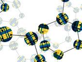 Molecule — Stock Vector