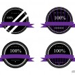 Labels 100 percent - Stock Vector