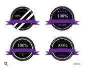 Labels 100 percent — Stock Vector