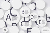 Vector - Alphabet Letters in Circle White Buttons — Vector de stock