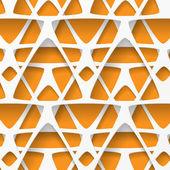 Biały i pomarańczowy tło geometryczne — Wektor stockowy
