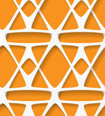 White and orange geometric background — Stock Vector