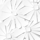 Abstract white flower — Stock Vector