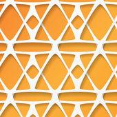 White and orange geometric background — Stock Vector