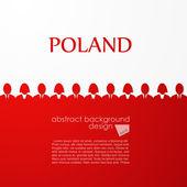Polish flag — Stock Vector