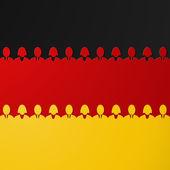 German - Germany flag — Stock Vector