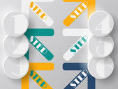Arrows steps design from one till sixt — 图库矢量图片