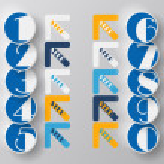 Modern arrow circle step from zero to nine — Stock Vector #33270083