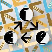 Modern arrow circle step — Stock Vector
