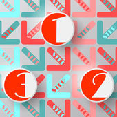 Modern arrow circle step — Vector de stock