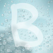 Letter B and water drop — Stock Vector