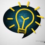 Idea sign bubble — Stock Vector