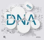 Blue DNA in circles — Vetorial Stock