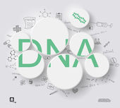 Green DNA in circles — Wektor stockowy