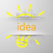 Idea sign silhouette — 图库矢量图片