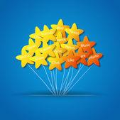Gwiazdy na lina — Wektor stockowy