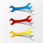 Wrench icon set — Stock Vector