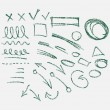 Hand drawn arrows set — Stock Vector