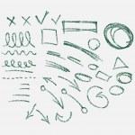 Hand drawn arrows set — Stock Vector #37222209