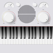 Synthesizer Keys Knobs Buttons and keyboard — Vetorial Stock
