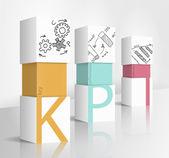 KPI concept — Stock Vector