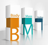 Body Mass Index (BMI) — Stock Vector