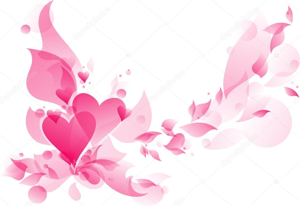Abstract floral heart — Stock Vector #17469671