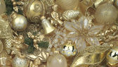 Texture Christmas gold decoration — Stock Photo