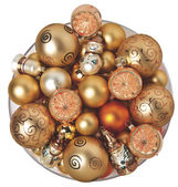 Christmas bollar guld — Stockfoto