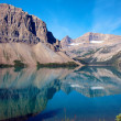 Reflections on Bow Lake — Stock Photo